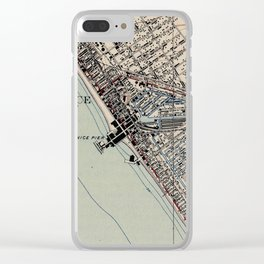 Vintage Map of Venice Beach California (1923) Clear iPhone Case