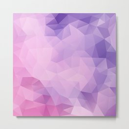 Triangles design in pink and purple colors Metal Print