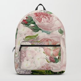 Vintage Roses and Lilacs Pattern - Smelling Dreams Backpack