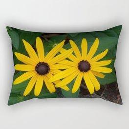 Twin Coneflowers Rectangular Pillow