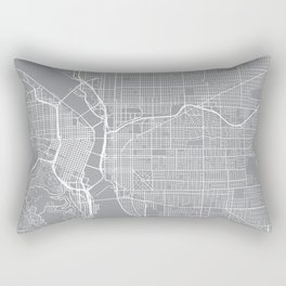 Portland Map, Oregon USA - Pewter Rectangular Pillow