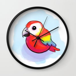 Chubby Macaw Parrot Wall Clock