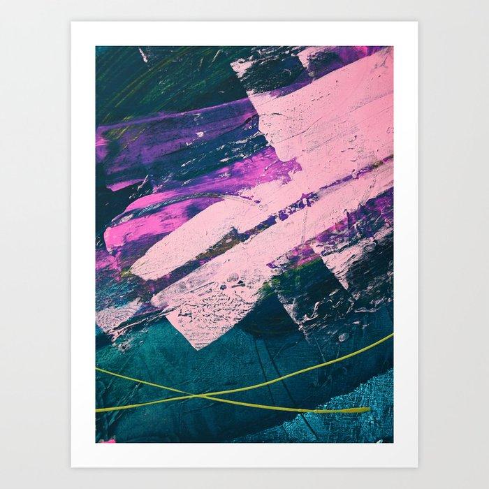 Wonder. - A vibrant minimal abstract piece in jewel tones by Alyssa Hamilton Art Kunstdrucke