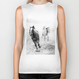 Running with the horses Biker Tank