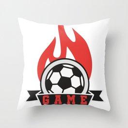 Football Training Club Gift Game Throw Pillow