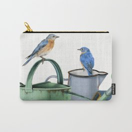 Bluebirds At The Potting Shed Carry-All Pouch