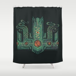 The Crown of Cthulhu Shower Curtain