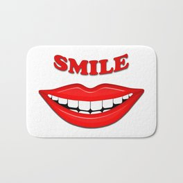 Smile With Big Lips Bath Mat