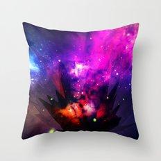 Galactic Crystals Throw Pillow