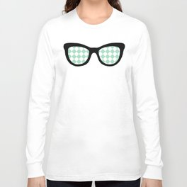 Mint Diamond Eyes Long Sleeve T-shirt