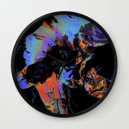 Looks like paintball in the dark Wall Clock
