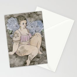 fat babe Stationery Cards