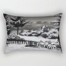 Winter, snow, nature Rectangular Pillow
