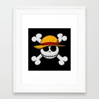 luffy Framed Art Prints featuring Jack Luffy by le.duc