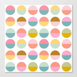Colorful and Bright Circle Pattern Canvas Print