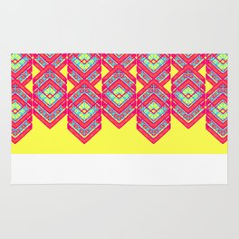 Squared Yellow Rug