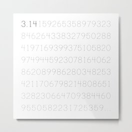 Digits of Pi Metal Print