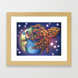 """Octo World"" Framed Art Print"