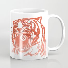 8 Ball Tiger - Red Coffee Mug