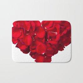 Rose heart Bath Mat