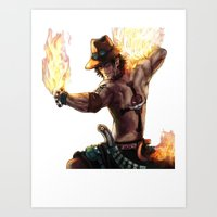 Portgas D. Ace Art Print