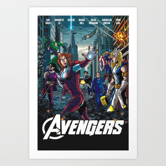 The Lady Avengers Art Print