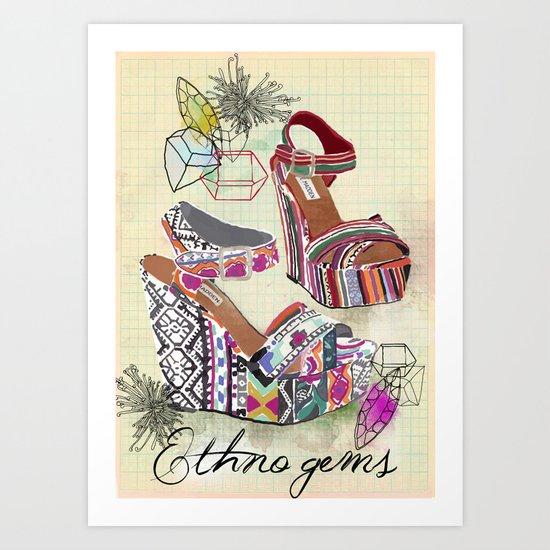 Ethno Gems Art Print