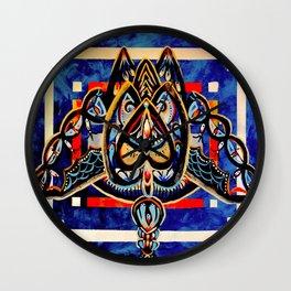 Abstract Owl Wall Clock