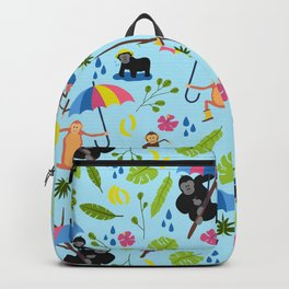 Monkeys in Rain Boots Backpack
