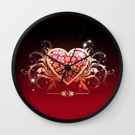 Surely his heart Wall Clock