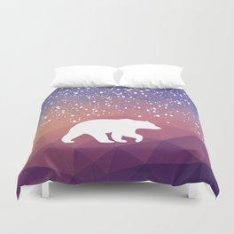 Beary Snowy in Purple Duvet Cover