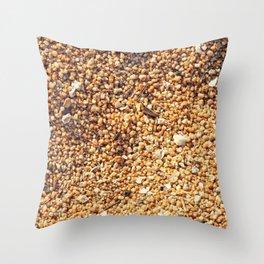 True grit - coarse sand Throw Pillow
