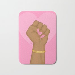 Black Lives Matter Power Fist Bath Mat
