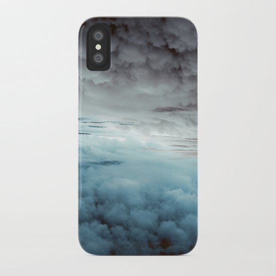 Glacier Painted Clouds iPhone Case