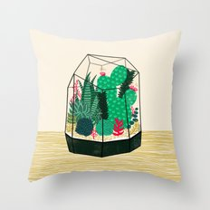 Terrarium - Geodesic Plant for Succulents and Cactus by Andrea Lauren Throw Pillow