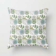 Mid Century Danish Bird Throw Pillow