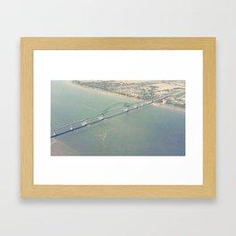 Pont de Trois-Rivières (Québec, Canada) / Bridge Framed Art Print