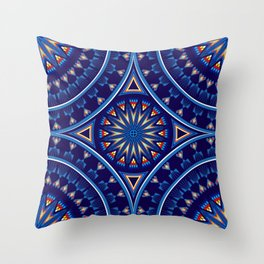Blue Fire Keepers Throw Pillow