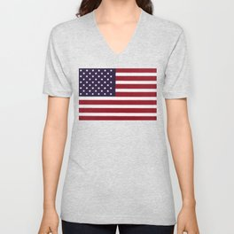 "Stars & Stripes flag, painterly ""old glory"" Unisex V-Neck"