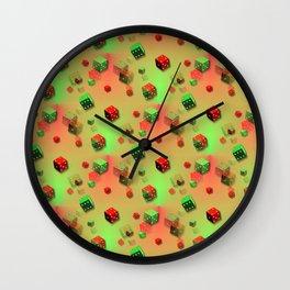 little cubes for a duffle bag Wall Clock