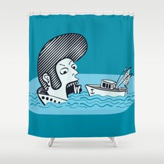 Elvis Eats Boats Shower Curtain