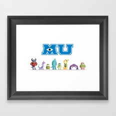 Pixel Monsters University Framed Art Print