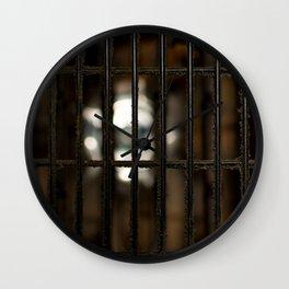 Dusty fan guard Wall Clock