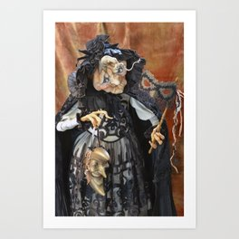 Rucus Studio Late to the Party - Pumpkin Lady Art Print