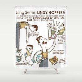 SWING SERIES: LINDY HOPPER #2 Shower Curtain