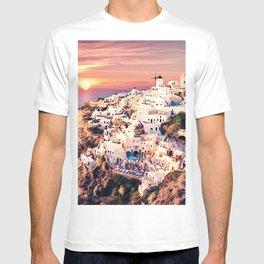 Santorini Sunset View T-shirt