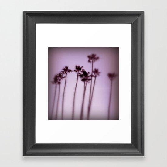lilac twilight Framed Art Print