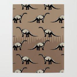 ChocoPaleo: Brontosaurus Poster