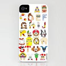 Super Mario Alphabet iPhone (4, 4s) Slim Case