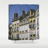 90s Shower Curtains featuring The 90s in France by MarioGuti